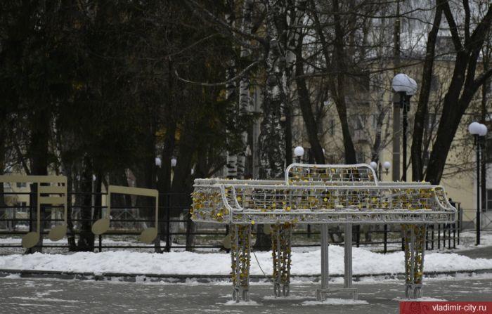 Во Владимире продолжается предновогоднее оформление города
